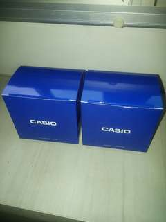 Free Brand 2 x New Casio Watch Boxes