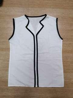 White office sleeveless #makati50