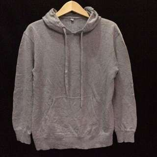 hoodie uniqlo basic grey
