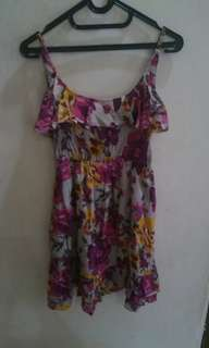 Tanktop Dress motif bunga