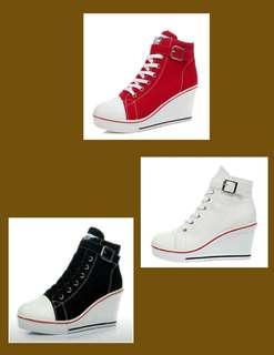 Converse Inspired Wedge Sneakers