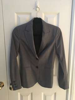 Theory Dark Grey Blazer Size 00