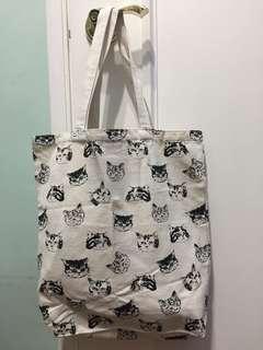 貓咪印花環保袋 totebag