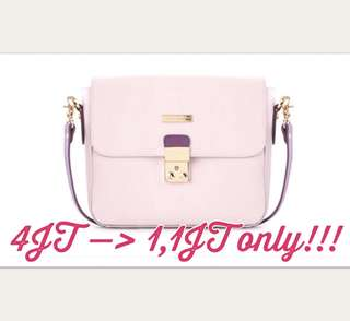 Phillipe Jourdan Bettilica Handbag Pink (tas wanita)