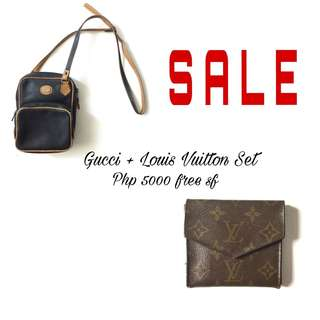PLOVED: Authentic Gucci and Louis Vuitton Set