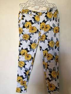 Zara floral ankle pants