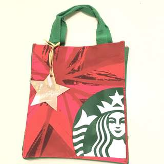 (包郵) Starbucks Red Star Totebag 環保袋 手握袋