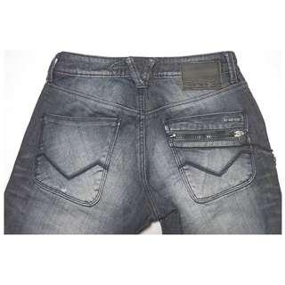 【9/1前任兩件折扣250】義大利品牌 SIXTY ENERGIE 深藍色 刷紋刷白 低腰直筒褲 30腰 (7成5新)
