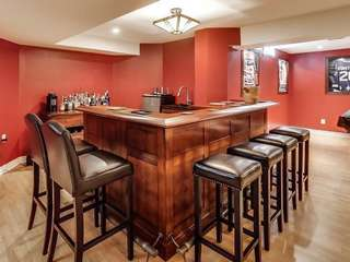 Gorgeous high end bar and stools