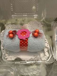 Handmade towel Swiss Roll Cake