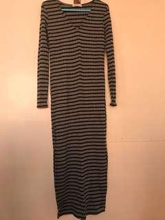 Bershka fitted midi dress