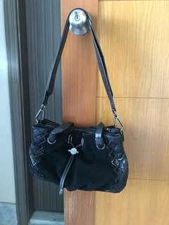 mimco bag black leather