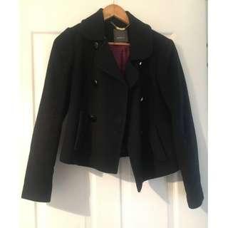 MARCS Black Italian Wool Jacket - Size 10