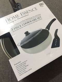 Home Essence 3 piece cookware NON STICK pan