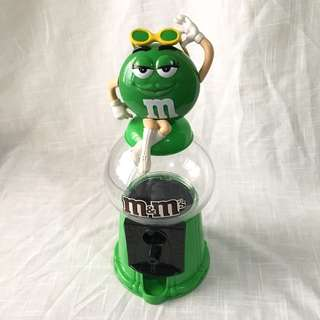M&M Gumball Machine Dispenser Coin Bank - Green Lady