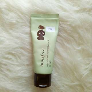 Innisfree Jeju Volcanic Color Clay Mask Edisi Wanna One Green Cica