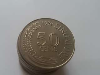 50 cent coins × 13
