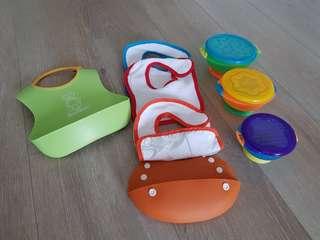 🚚 可洗圍兜瑞典BabyBjorn 英國可拆 吸盤兒童碗