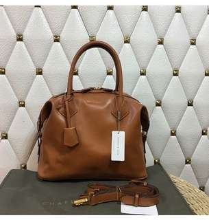 Authentic Charles and keith leather Satchel
