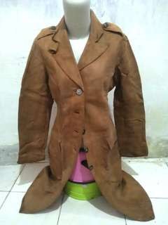 Jaket/ Jas mantel kulit import