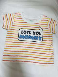 """""""Love you Mommy"""" baby shirt"""