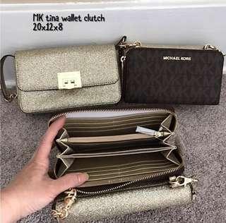 Michael Kors Tina Wallet Clutch Crossbody (wallet and Clutch)