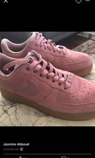 Nike Air Force 1 pink suede