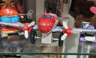 Tin Toy Friction Aeroplane