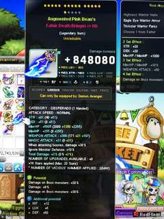 🚚 Maplesea Demon avenger Weapon and secondary