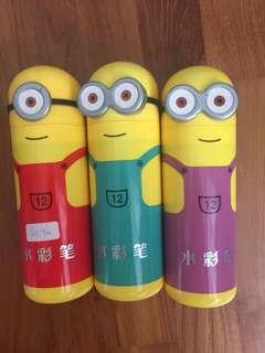 Minion bottle color pencils 12 color
