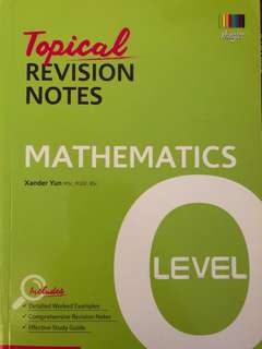 O Level/ Normal Academic Topical Revision Notes (MATHEMATICS)