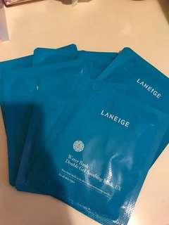 Laneige Water Bank Double Gel Soothing Mask_EX 水份面膜 4 塊
