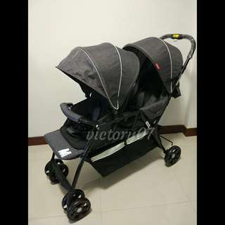 (Instock) BN Baby Stroller/Twin, Double, Tandem, Grey
