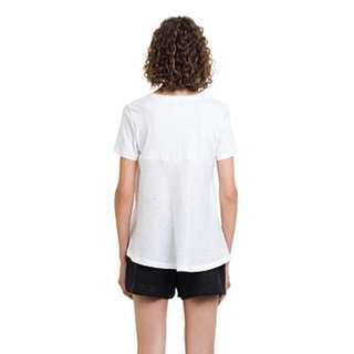 Country Road Perforated Linen Back Tee