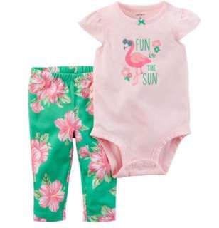 🚚 *24M* Brand New Carter's 2-Piece Bodysuit Pant Set  For Baby Girl #CarouPay