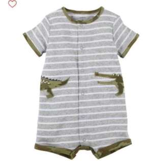 🚚 *24M* Brand New Carter's Snap Up Cotton Romper For Baby Boy#CarouPay
