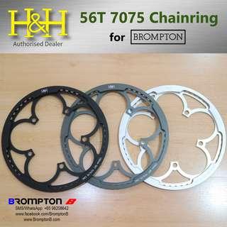 H&H 56T Unibody 7075 Chainring+Chainguard