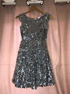 Topshop Sequined Dress