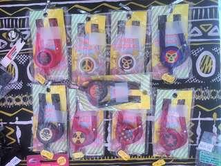 🚚 日本購回/造型鑰匙勾/鑰匙圈/伸縮環/星星/骷髏/摔角手/火焰/和平/水玉/核電符號