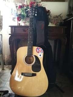 Fender SA-105 Dreadnought Acoustic Guitar (Natural)