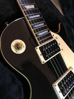 1978 Vintage Greco Black Les Paul Guitar! Original Gibson Vintage Switch Tip!!