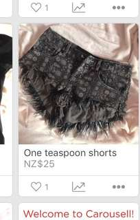 one teaspoon shorts for sale!!!