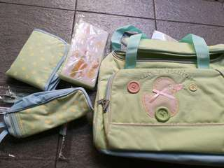 5 piece traveler diaper bag