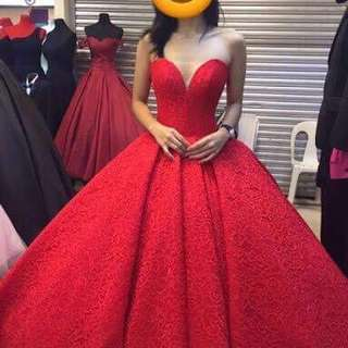 Red Ballgown rent