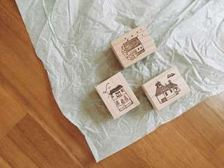 Home wooden rubber stamp