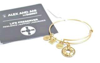 ALEX AND ANI CBD14LPRG LIFE PRESERVER RAFAELIAN GOLD CHARM BANGLE BRACELET