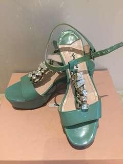 🚚 Miu Miu水鑽高跟涼鞋