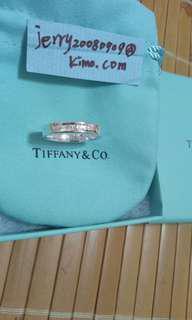真品Tiffany&co 1837經典窄版925純銀戒指