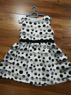 Black/White polka dots dress