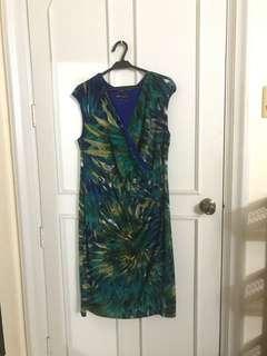 Jones New York Tropical Print Dress